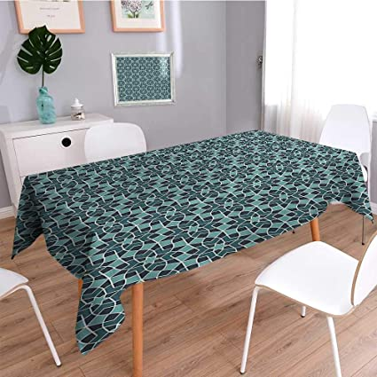Amazon SCOCICI1588 Linen Square Tablecloth Persian Lines And S