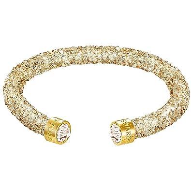 f6cea6a5ebf87 Swarovski Crystaldust Gold small Cuff 5255897