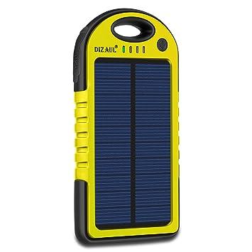Amazon.com: Cargador solar dizauL, 5000 mAh, portátil ...