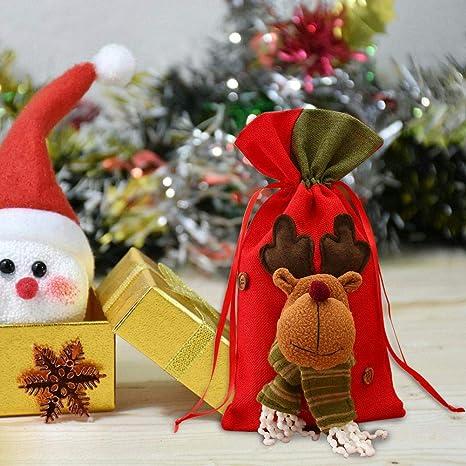 Nueva bolsa de regalo de Papá Noel Decoración del día de Navidad Bolsa de dulces de