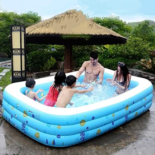 Mopoq Piscina inflable para niños grandes Piscina inflable ...