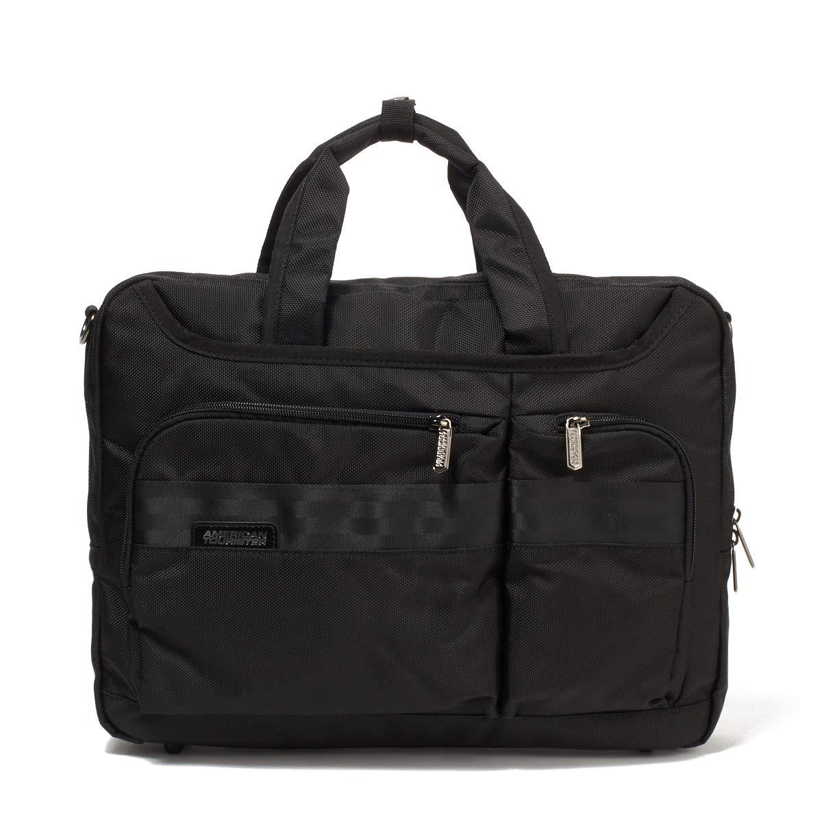 アメリカンツーリスター ビジネスバッグ ブリーフケース [QUANTICO クアンティコBRIEF CASE MDD5*09001] 33cm ブラック B07QYQV3T5