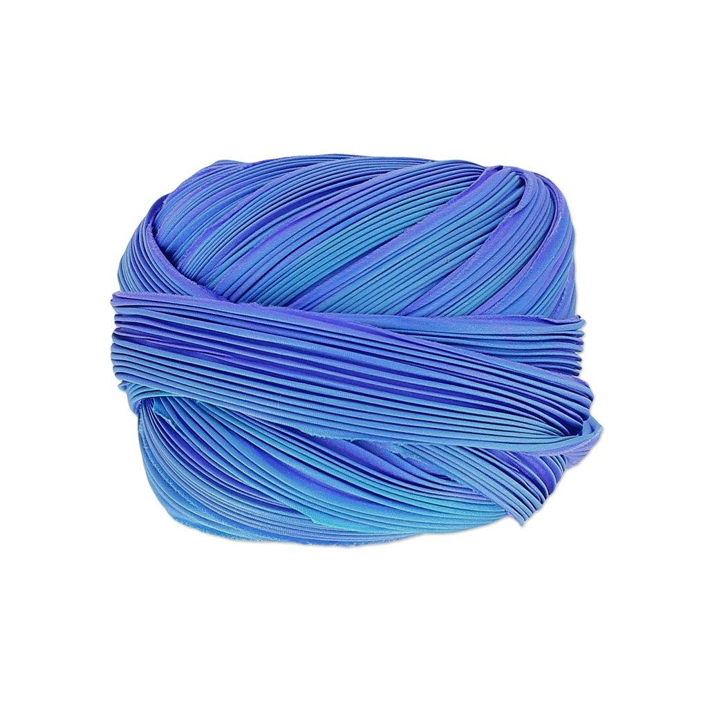 Perles & Co Silk ribbon Shibori Lapis Sky x10cm