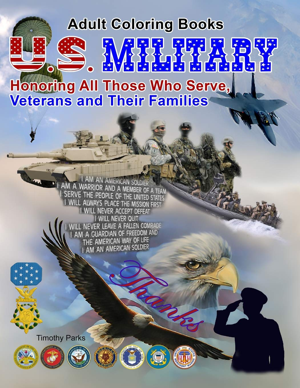 Amazon Com Adult Coloring Books U S Military Honoring All