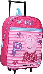 Peppa Pig Trolley Be Happy Wheeled Trolley Bag,