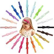 20Pcs 3  Grosgrain Ribbon Hair Bows Baby Headbands for Baby Girls Infants Toddlers Kids Teens