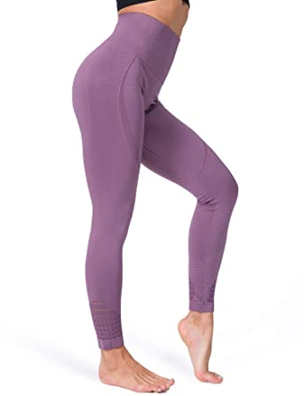 4aaff75afff318 FITRELL High Waist Yoga Pants for Women Tummy Control Running Seamless Gym  Workout Leggings, S