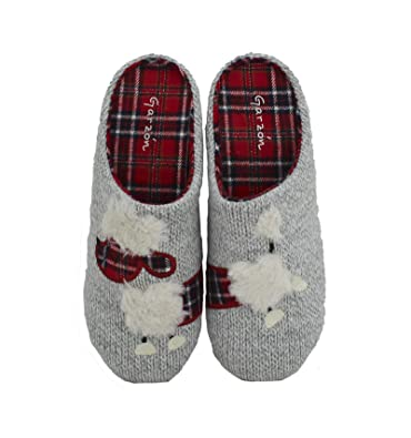 Garzón - Zapatillas de Casa Lana Gris Perla - Gris, 39: Amazon.es: Zapatos y complementos