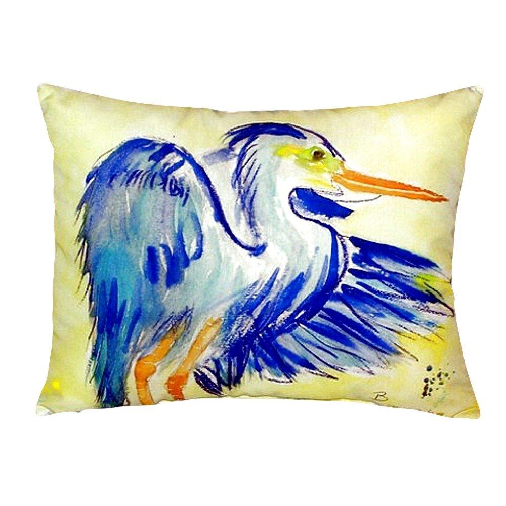 Betsy Drake NC963 Teal Blue Heron No Cord Pillow 16' x20'