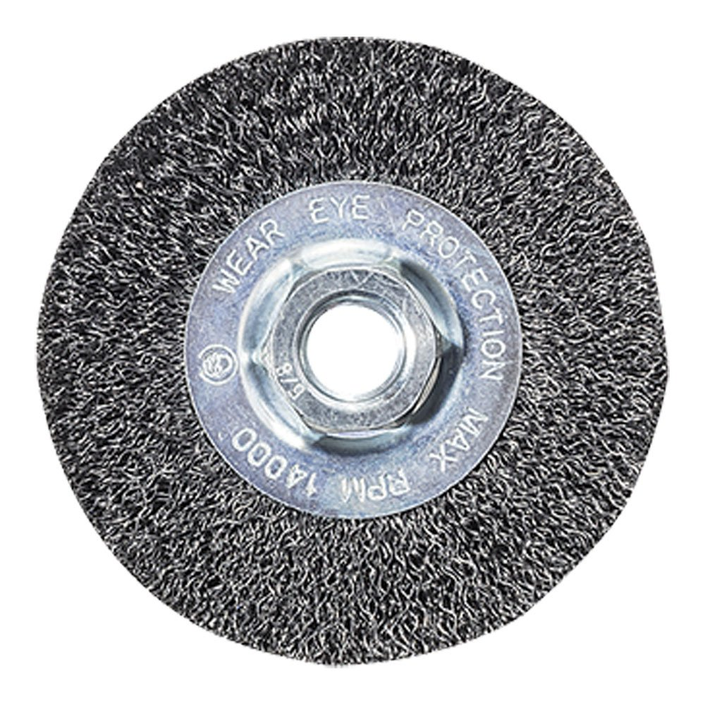 Mercer Industries 187010 Crimped Wire Wheel, 4'' x 1/2'' x 5/8''-11, For Angle Grinders