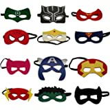 VANVENE Superhero Party Masks for Kids | Includes a new Super Hero Mask | 12 Piece Super heroes Comics Masks are Great for Pa