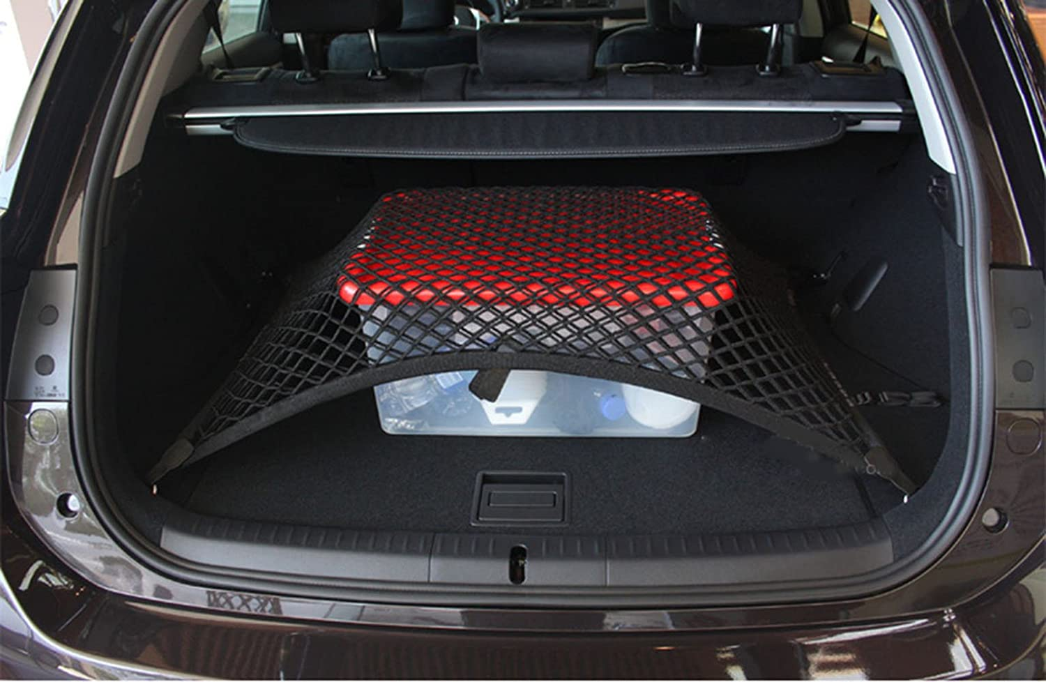 Pegasuss Custom fit High Elastic Floor Style Rear Trunk Storage Luggage Net for Mitsubishi Outlander 2013-2015