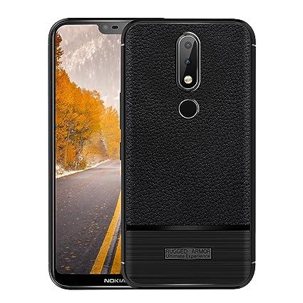 huge discount f58cb 256b1 Amazon.com: TOTOOSE Case Nokia 6.1 Plus Premium, Slim Back Cover ...