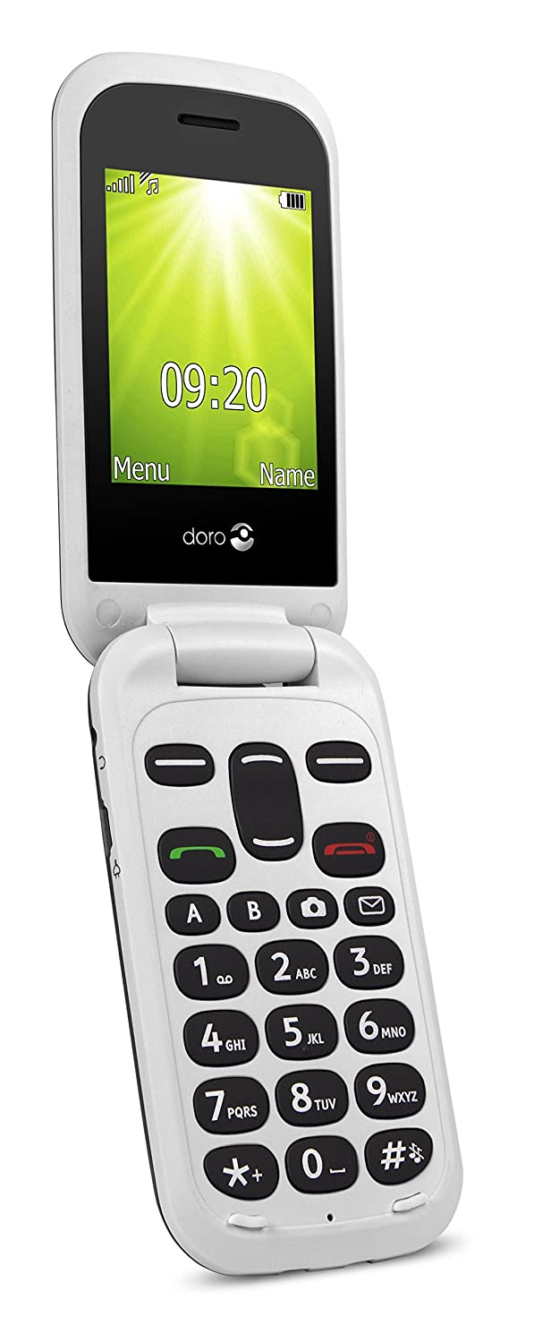 Doro 7354 2404 2g Uk Sim Free Mobile Phone Dual Sim Blackwhite