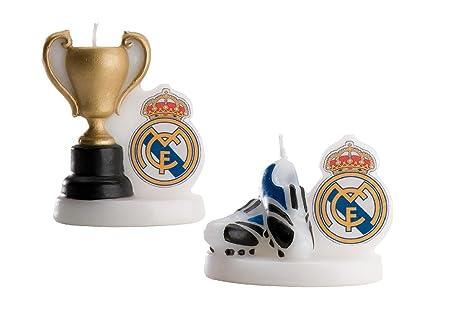 dekora - Vela cumpleaños Real Madrid en Blister, 7 cm ...