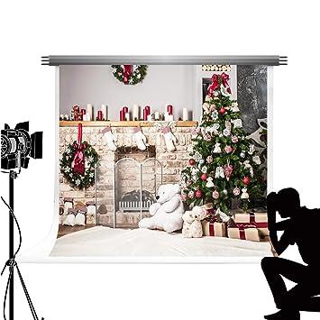 Kate 10x6.5ft/3x2m Fondos Estudio Navidad telon de Fondo Invierno arbol de Navidad Chimenea Navidad Calcetines photocall: Amazon.es: Electrónica
