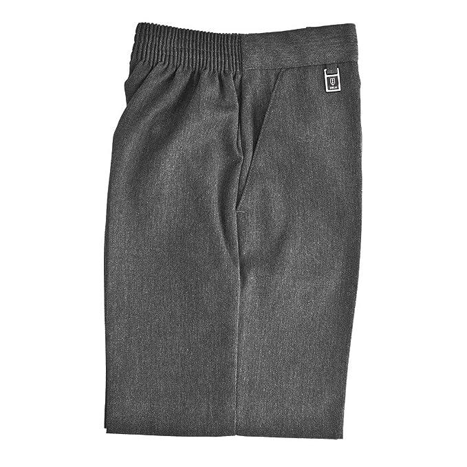 38cd858912b School Boys Uniform Sturdy Large Fit Half Elastic Back Shorts All Sizes  Grey Free Postage  Amazon.co.uk  Clothing
