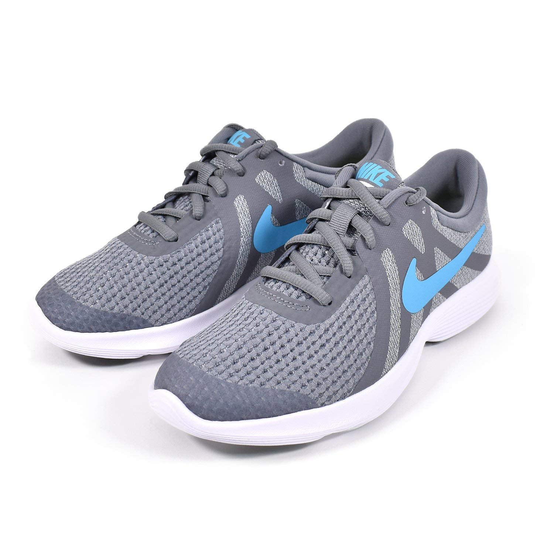 Nike Kids Boy's Revolution 4 (Big Kid) Cool Grey/Blue Fury/Pure Platinum/Black 3.5 M US Big Kid