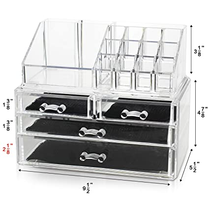 8d61e6284aa0 Unique Home New Design Bottom Layer Increase Fits Most Conceal Acrylic  Makeup Organizer and Cosmetic Make