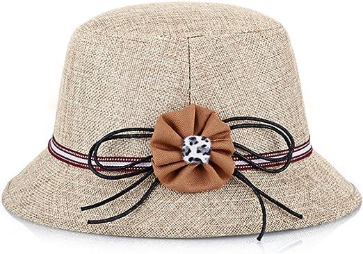 Hosaire 1x Sombreros del Sol Anudado Flores para Mujer Gorras de ...