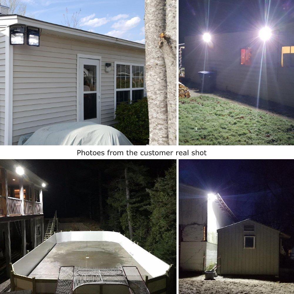 White Light,Floodlight 100W White Light IP66 Waterproof 8000lm LEPOWER New Craft 100W LED Flood Light Super Bright Outdoor Work Light 6500K 500W Halogen Bulb Equivalent