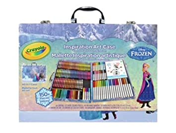 Crayola Frozen 150 Piece Art Case Gift Set Plus 18 Giant Colouring Pages
