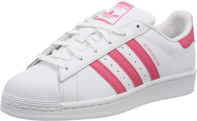 adidas superstar weiß rosa streifen