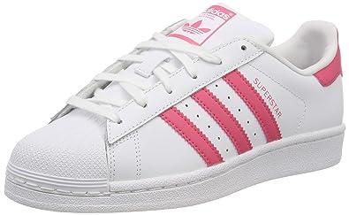 Adidas Originals Sneaker Damen SUPERSTAR J CG6609 Weiss Rot