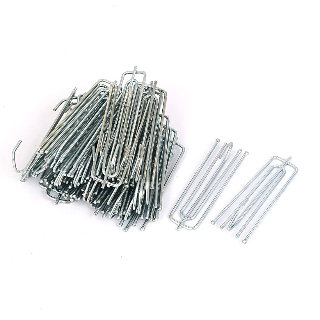 uxcell 70mm Long 4-Prong Metal Pinch Pleat Curtain Hooks Silver Blue 35pcs a16032900ux0831