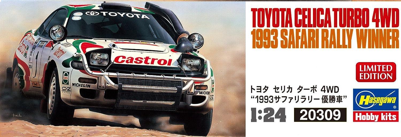 Hasegawa 020309 1/24 Toyota Celica Turbo 4 WD 1993 safary Rally Winner plástico Maqueta de, Modelo Ferrocarril Accesorios, Hobby, de construcción: ...