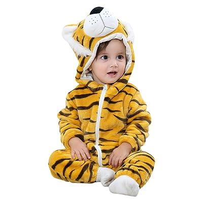CHIC-CHIC Pyjama Ensemble de Pyjama Dors Bien Enfant Bébé Combinaison Hiver Forme Animal Déguisement Manteau Chaud