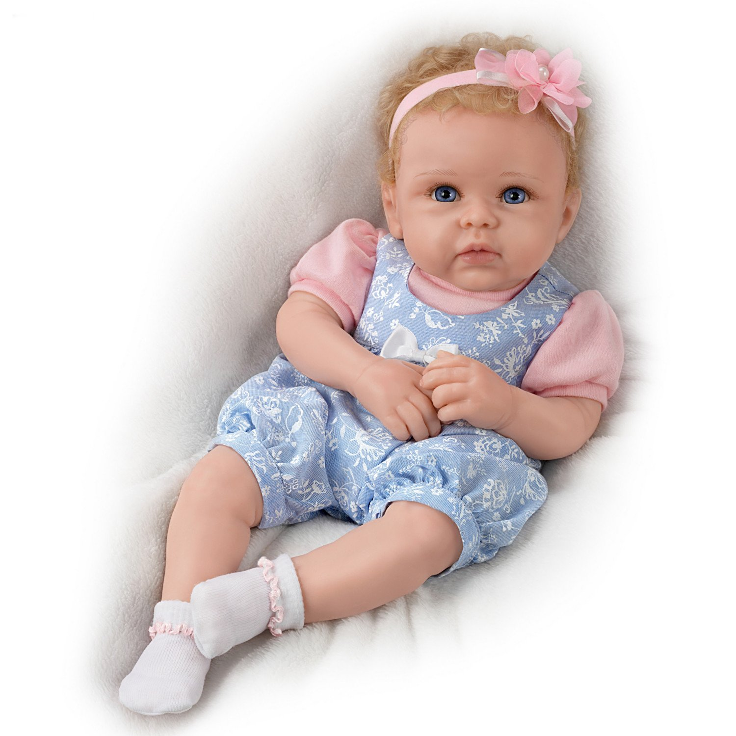 The Ashton - Drake Galleries Linda Murray Little Livie Weighted TrueTouch Silicone Baby Girl Doll with Rooted Hair