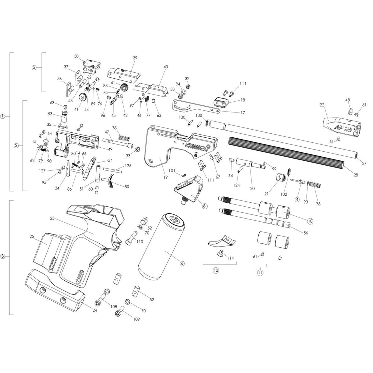Amazon com : Bisley Hammerli AP20 Spare Parts : Sports