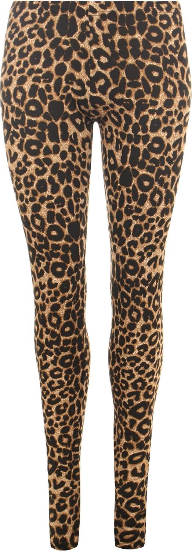 WearAll Womens Plus Leopard Animal Print Elacticated Full Length Long Leggings 66970