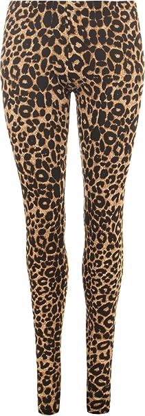 New Womens Leggings Plus Size Ladies Full Length Neon Leopard Multi Nouvelle