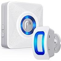 Fosmon WaveLink 51005HOM Wireless Home Security Driveway Alarm, Motion Sensor Detect Alert, Store Door Entry Chime Doorbell (150M/500FT, 52 Tunes, 4 Volume Levels, LED Indicators), 1 Motion Detector