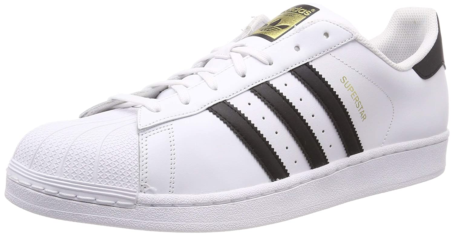 White (Footwear White Core Black Footwear White) adidas Unisex Adults' Superstar Sneakers