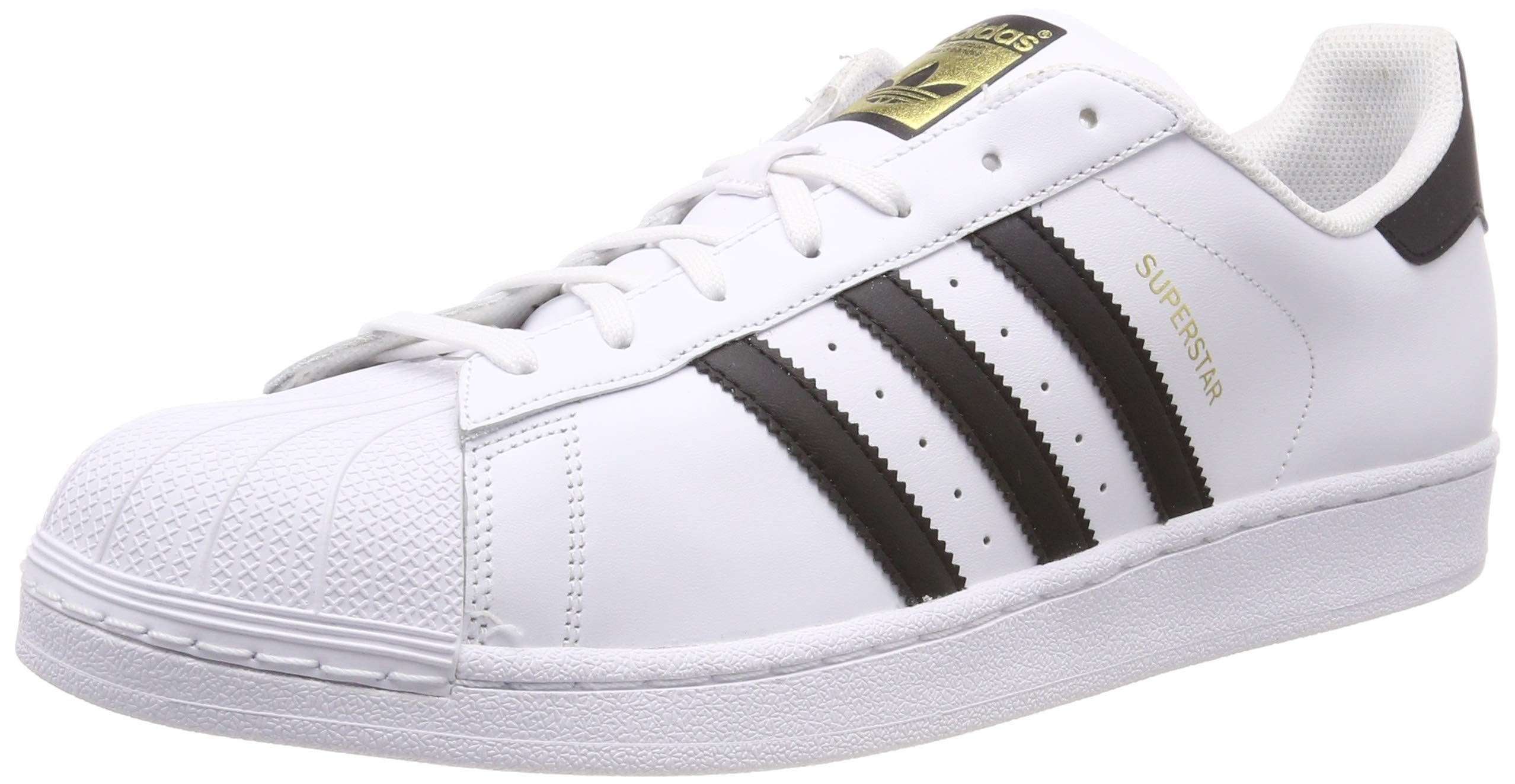 new product ca4bb c48c9 ADIDAS ORIGINALS SUPERSTAR C77124 bianco nero scarpe unisex pelle 44   Amazon.it  Libri
