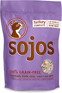 Sojos Complete Raw Natural Dry Cat Food Mix