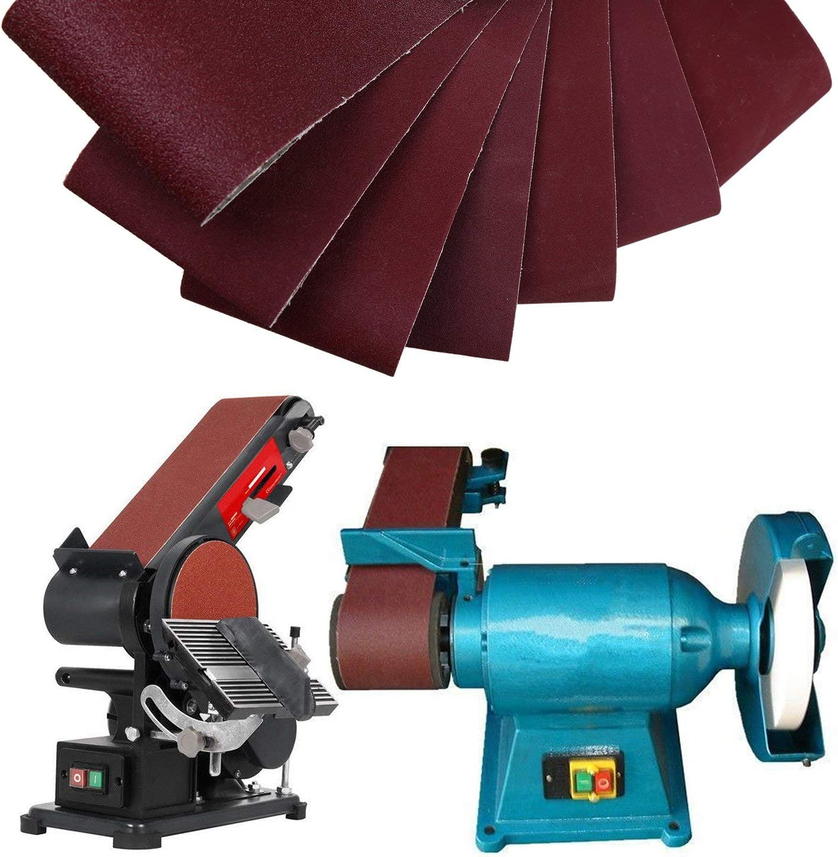 "12-Pack 4 x 36"" Sanding Belt, DeSS Aluminum Oxide Sander Belts 2 Each of 80 120 150 240 320 400 Grits (4x36 inch) - -"
