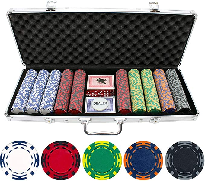 100pcs//pack Striped Poker Chips Set Casino Board Cards Game Token   Chip