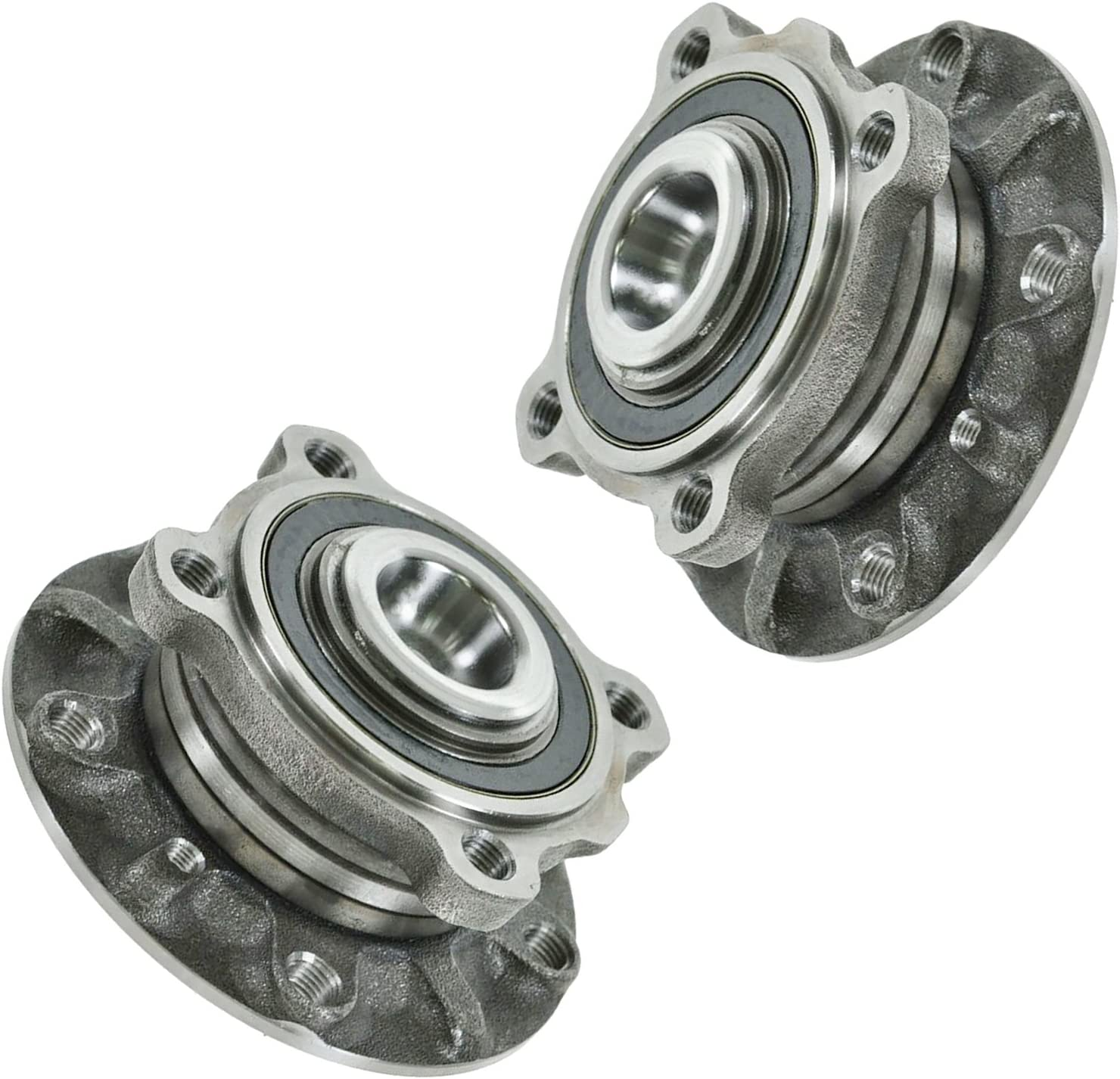 TRQ Front Wheel Hub And Bearing Left /& Right Pair for BMW 5 Series Z8 E39