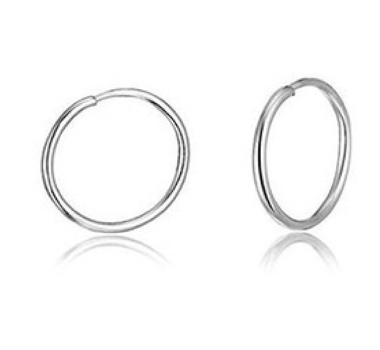 Amazon: Ultra Small Hoop Earrings, 8mm, Sterling Silver, Endless Hoops,  Nose, Cartilage, Ears, Lips