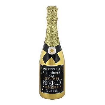 Prosecco regalo – oro botella de Prosecco ahorro dinero caja