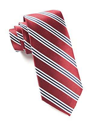3a01056d33a5 The Tie Bar 100% Woven Silk Burgundy Bar Striped Tie at Amazon Men's  Clothing store: Ties For Men