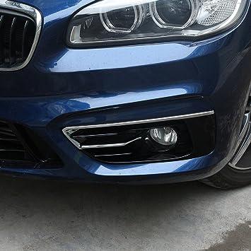 2 X Für 2er Serie F45 F46 Gran Active Tourer 2015 2017 Abs Chrom Poliert Silber Nebelscheinwerfer Abdeckung Verkleidung Auto
