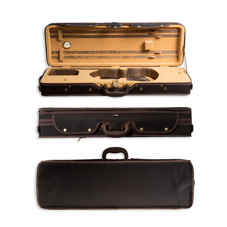 781f4555c2c2 Aileen 4/4 Full Size Luxury Vintage Pattern Lightweight Oblong Hard Violin  Case with Hygrometer