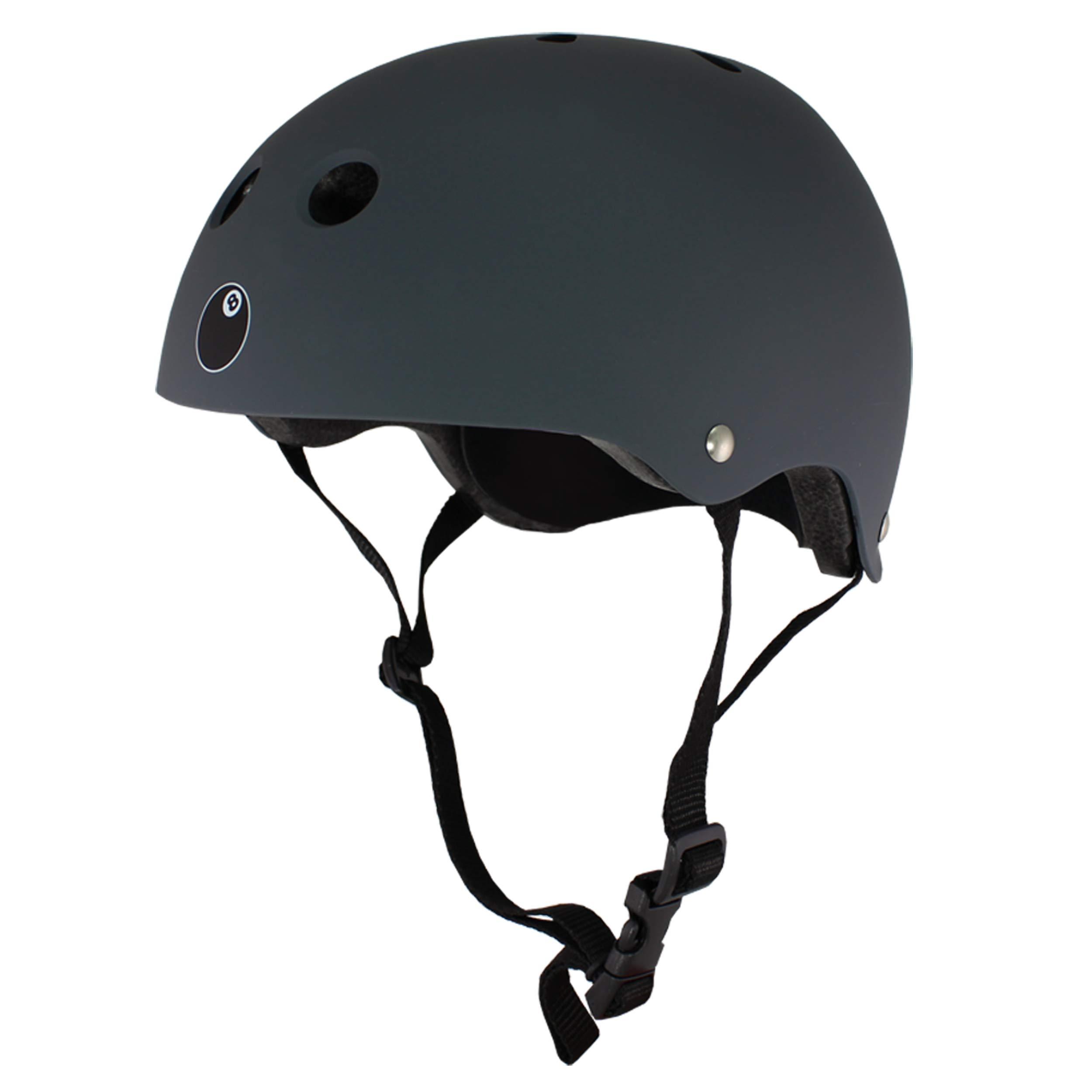 Eight Ball Dual Certified Kids Helmet for Bike, Skate, and Scooter, Gun Matte