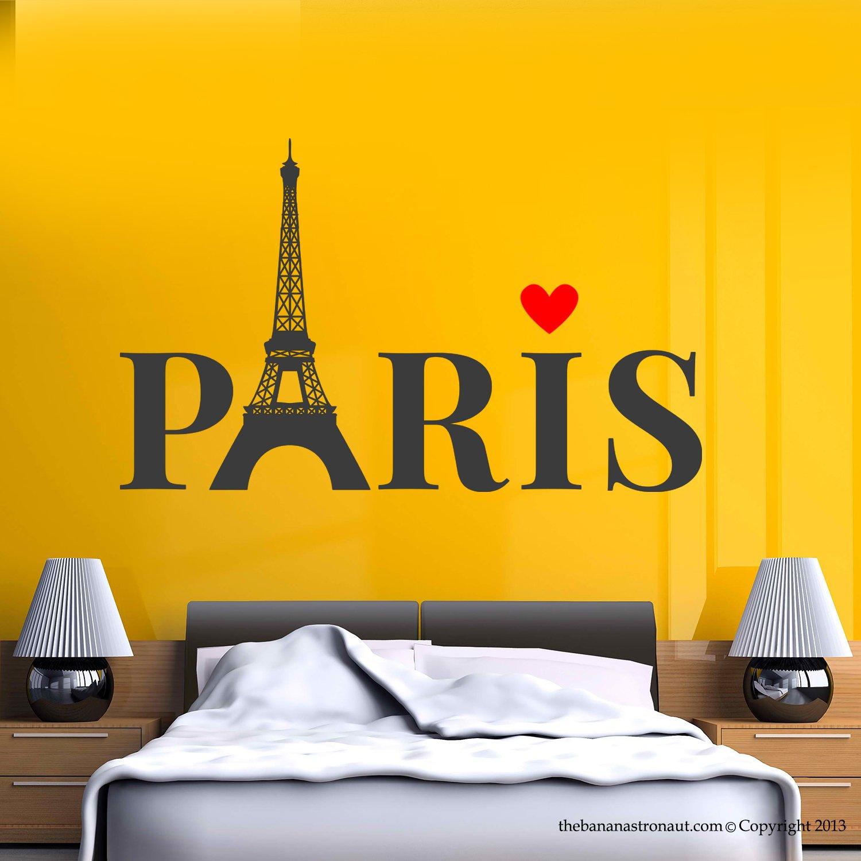 Amazon.com: The Banana Astronaut Paris Eiffel Tower Love Wall Decal ...