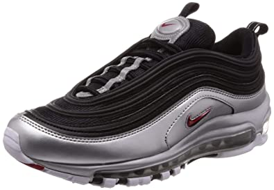 new concept c2a66 2c7de Nike Mens Air Max 97 QS Black Varsity-Red Synthetic Size 4